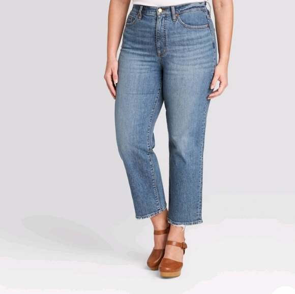 Universal Thread High Rise Straight Ankle Jeans